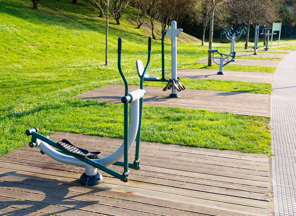 Planned community exercise park in Delacombe